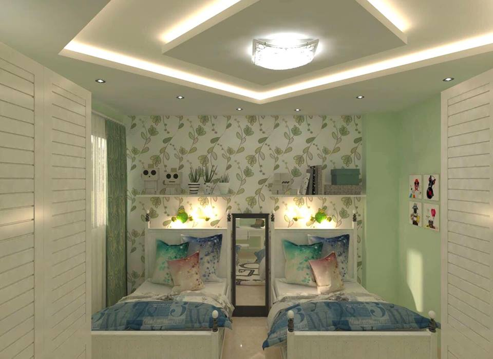 Geometric Bedroom Layout Design Ideas